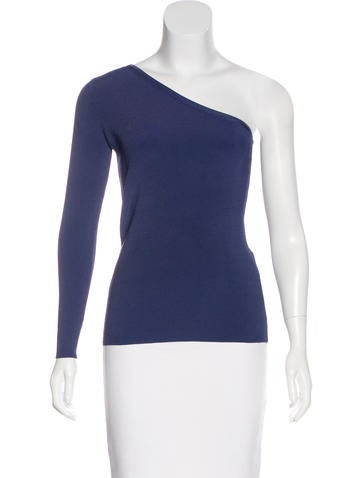 Elizabeth and James One Shoulder Rib Knit Top None
