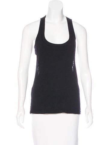 Elizabeth and James Sleeveless Cutout Top None