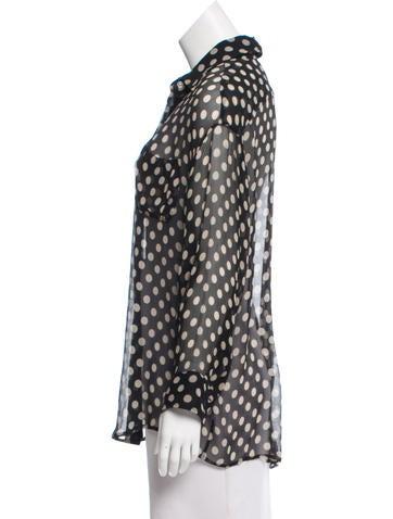 3fce65236cb11 Elizabeth and James Silk Polka Dot Blouse - Clothing - WEI45398 ...
