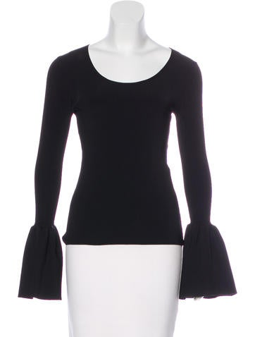 Elizabeth and James Willow Bell Sleeve Top None
