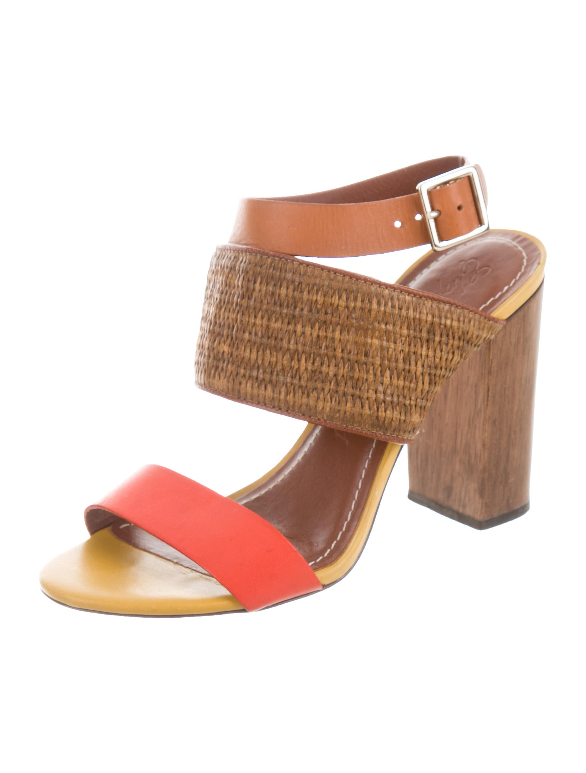 discounts sale online Elizabeth and James Wicker-Paneled Leather Sandals best store to get online cheap sale countdown package visa payment release dates CnVLOuxrv