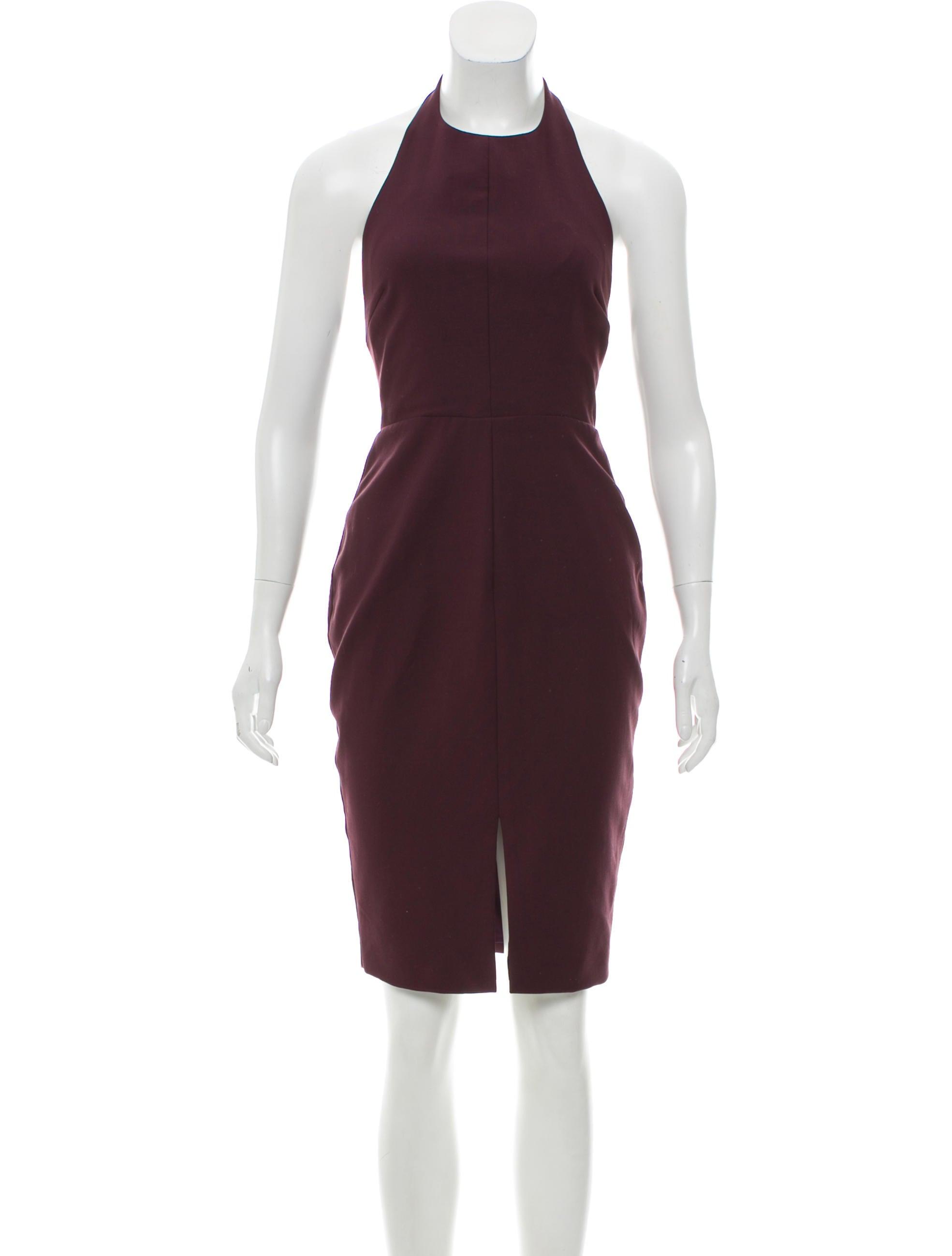 Halter Neck Midi Dress