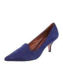Elizabeth and James Suede Grosgrain Trim Pumps