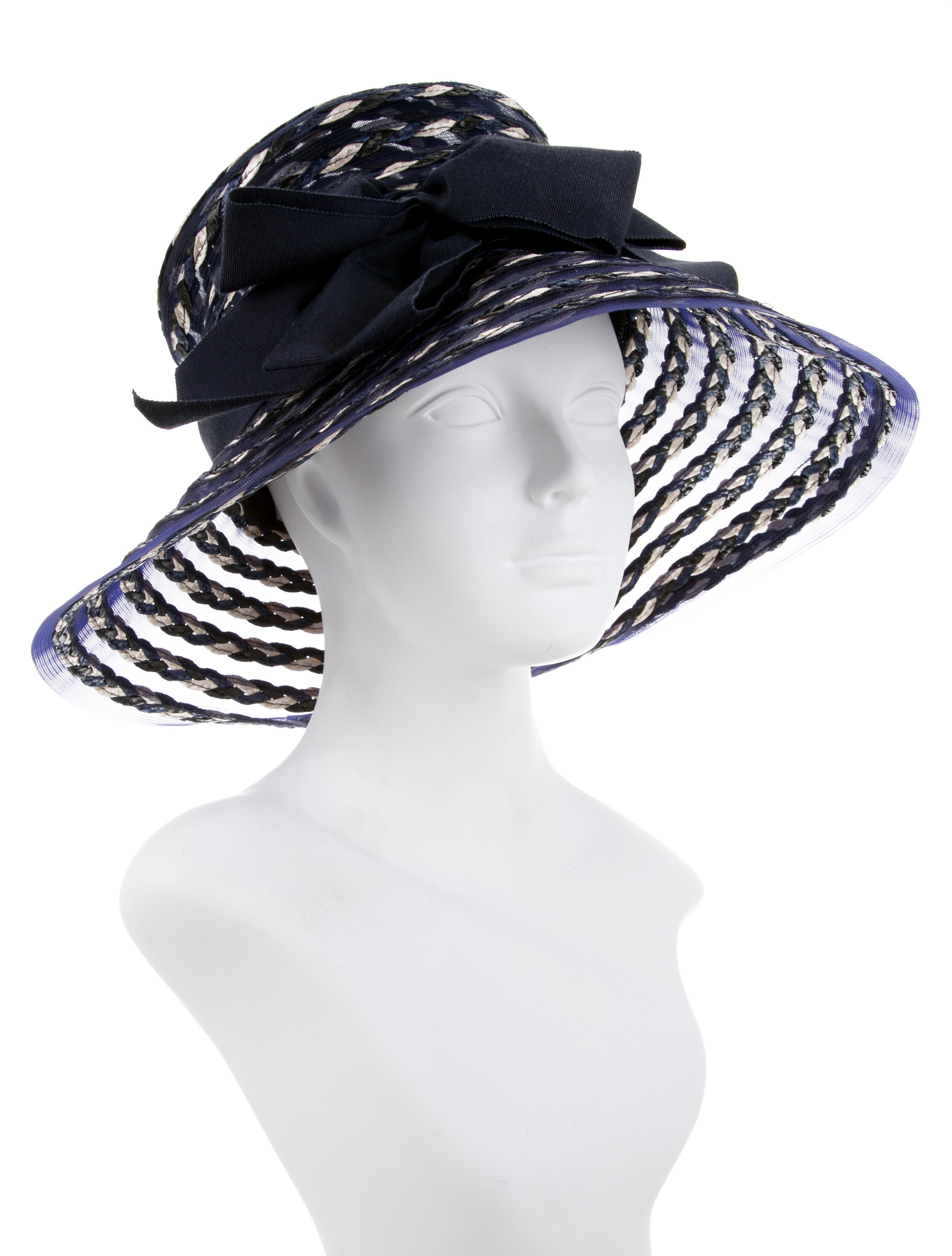 Eric Javits Mesh Woven Trimmed Hat W Tags Accessories