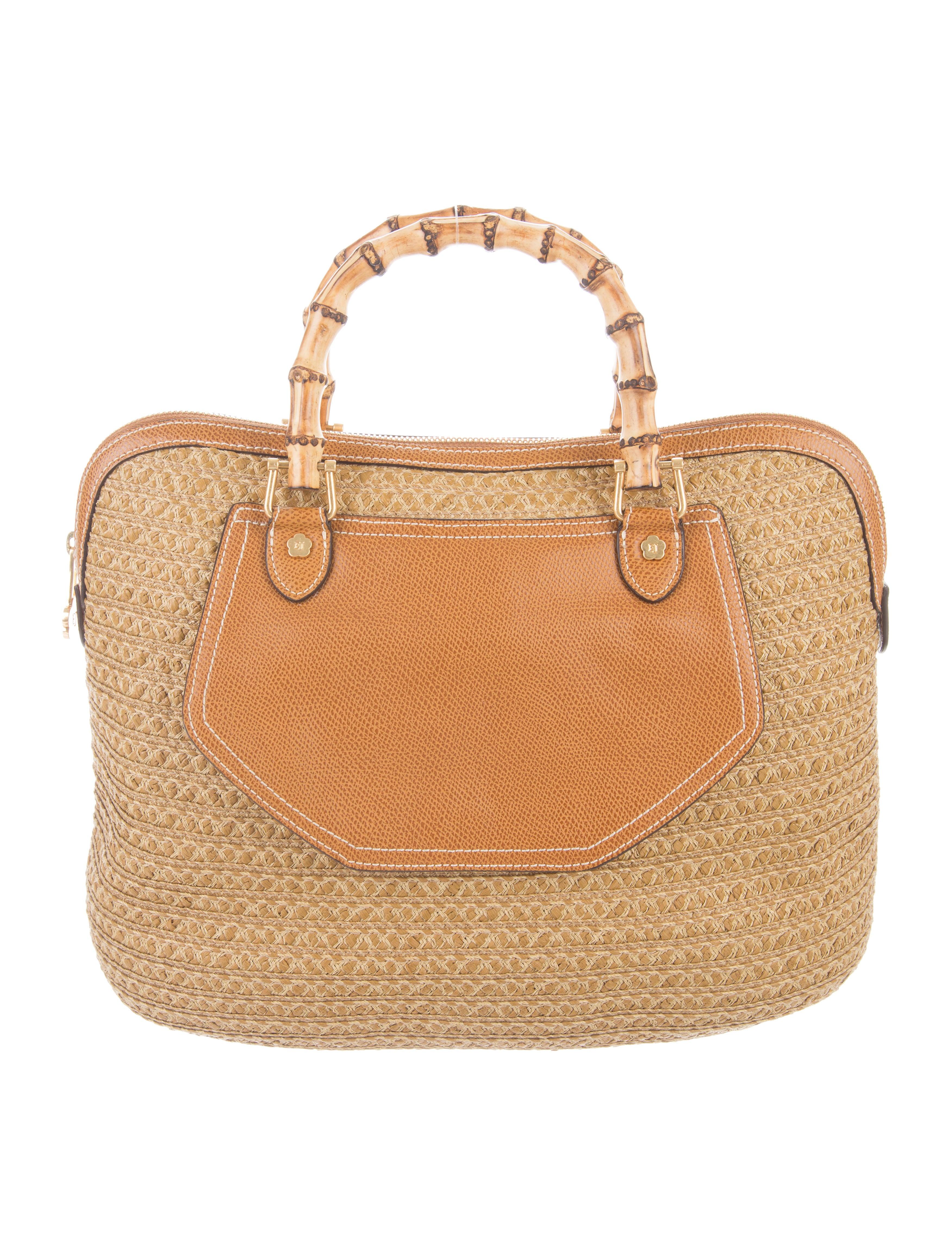 c6cb0882f2f9 Eric Javits Squishee Bamboo Tote - Handbags - WEJ21134 | The RealReal