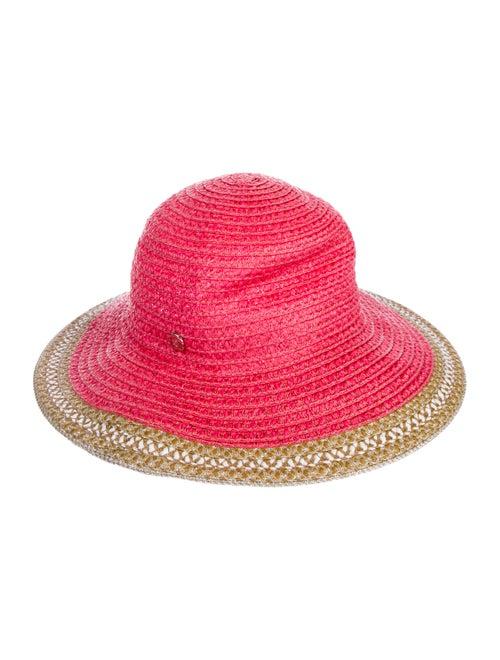 Eric Javits Straw Wide Brim Hat multicolor
