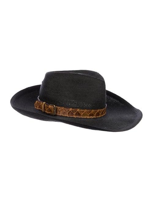Eric Javits Straw Wide Brim Hat Black - image 1