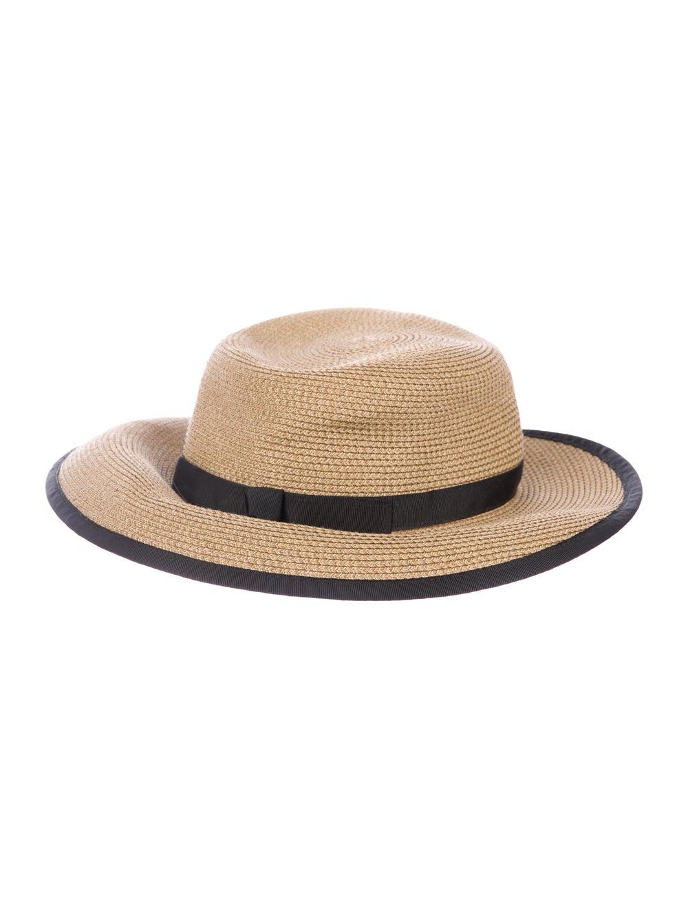 Eric Javits Straw Velcro Hat brown - image 1
