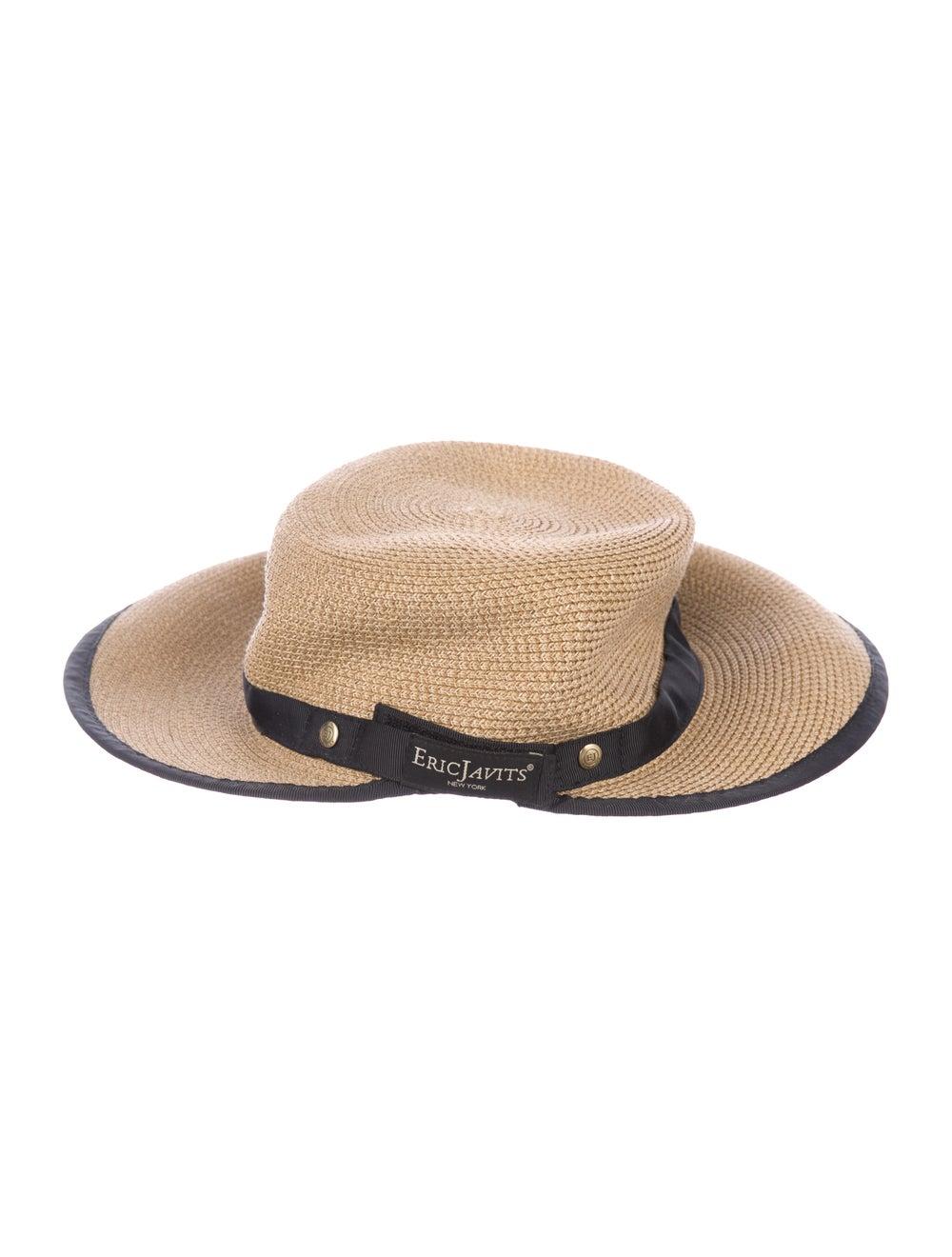 Eric Javits Straw Velcro Hat brown - image 2