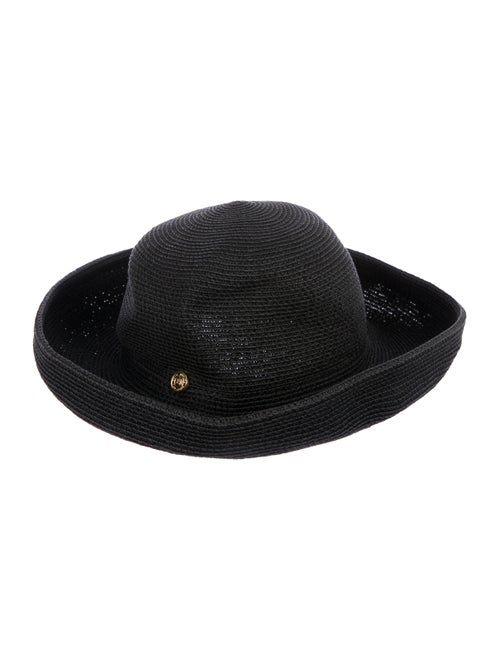 Eric Javits Straw Wide-Brim Hat Black - image 1