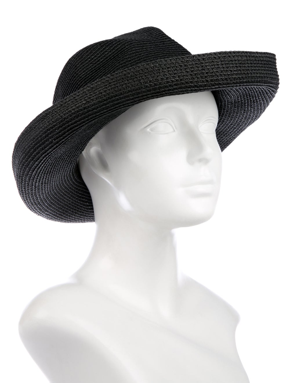 Eric Javits Straw Wide-Brim Hat Black - image 3