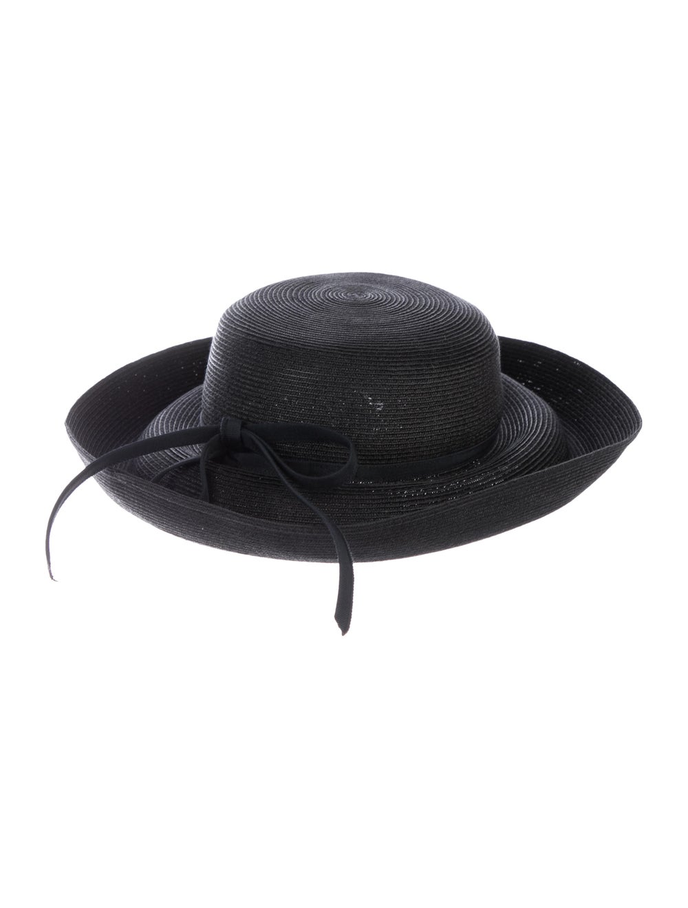 Eric Javits Hampton Straw Hat w/ Tags Black - image 2