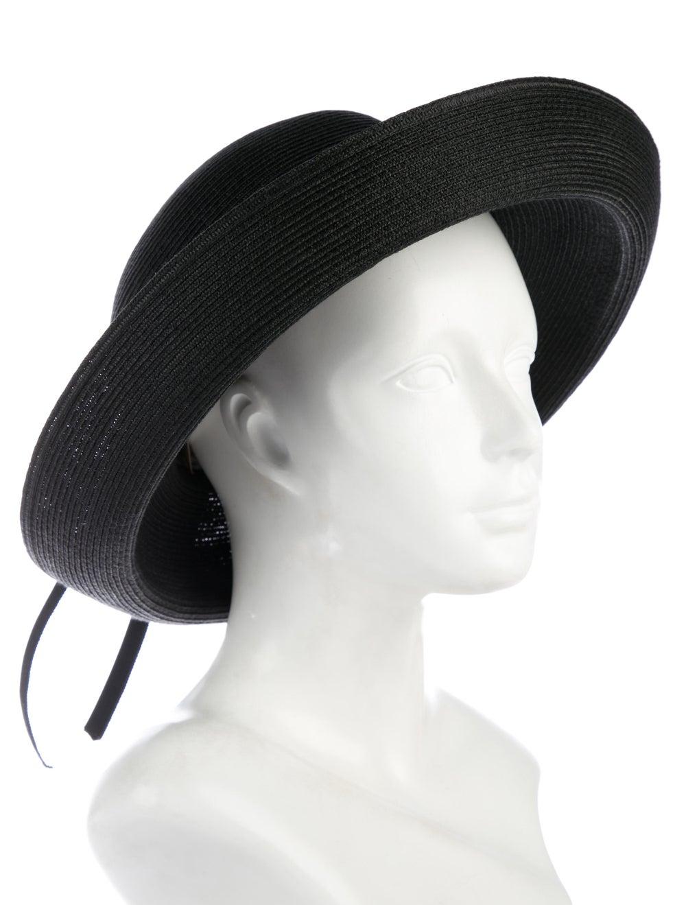 Eric Javits Hampton Straw Hat w/ Tags Black - image 3