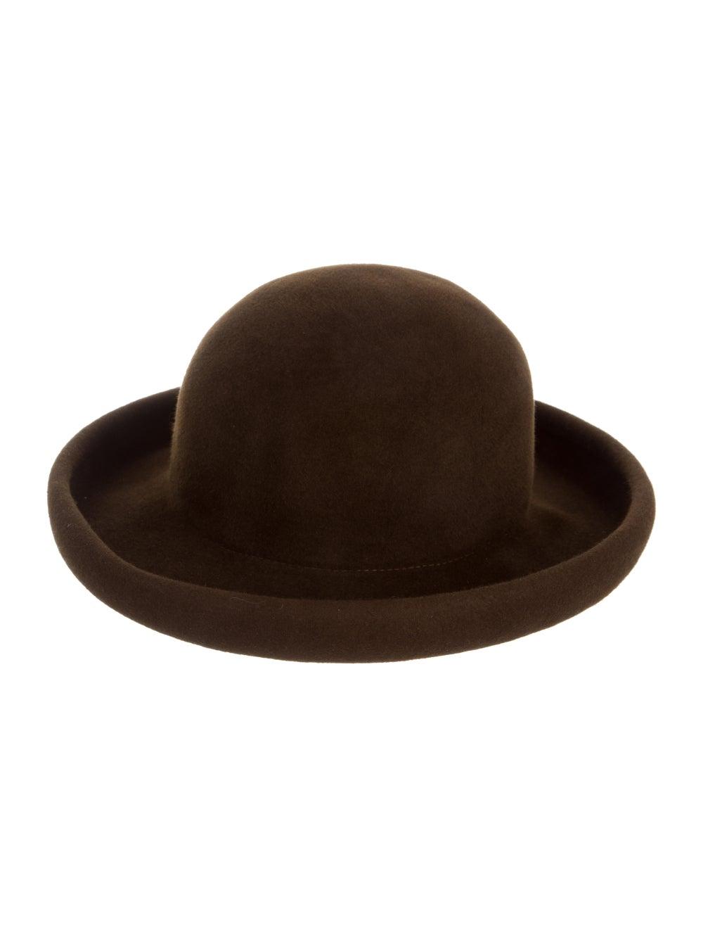 Eric Javits Suede Wide-Brim Hat brown - image 1