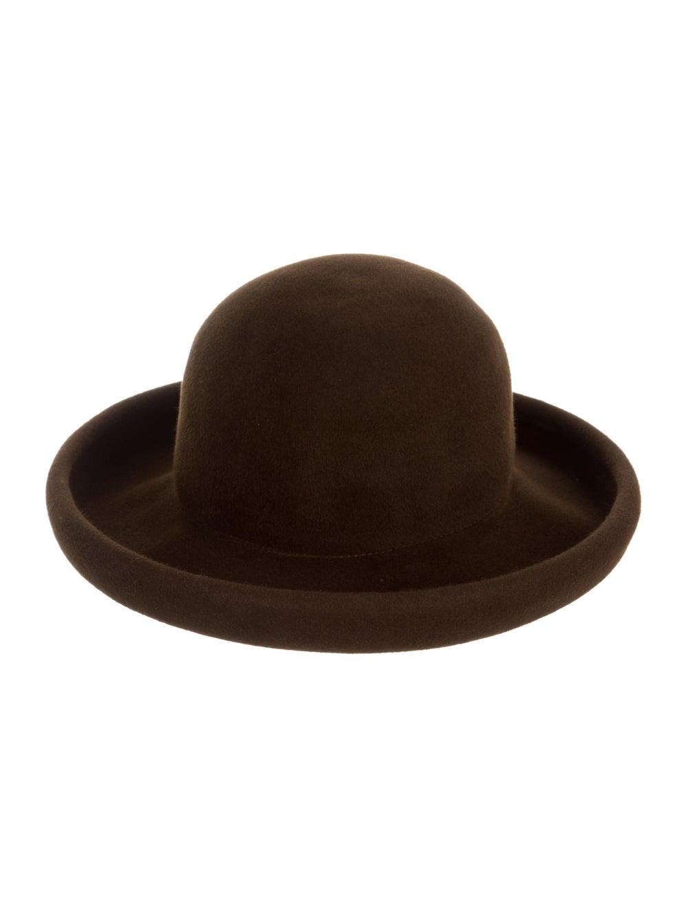 Eric Javits Suede Wide-Brim Hat brown - image 2