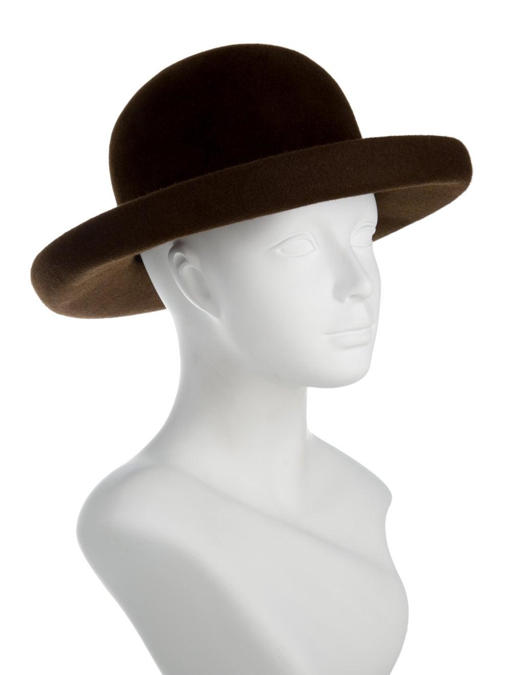 Eric Javits Suede Wide-Brim Hat brown - image 3