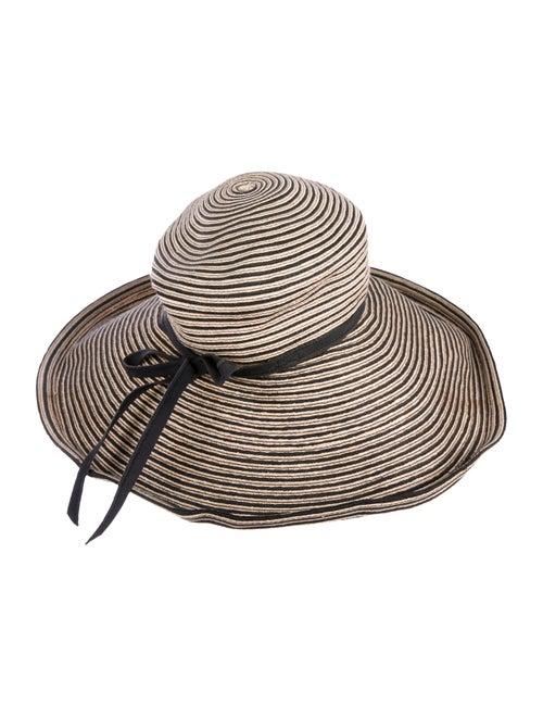 Eric Javits Straw Wide-Brim Hat Tan
