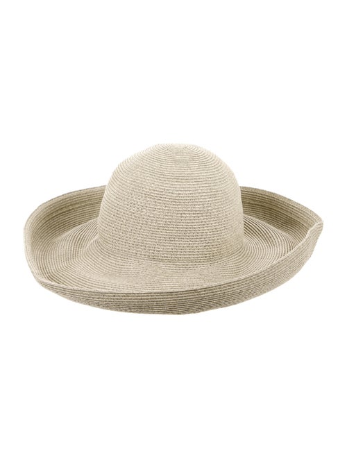 Eric Javits Wide-Brim Straw Hat green