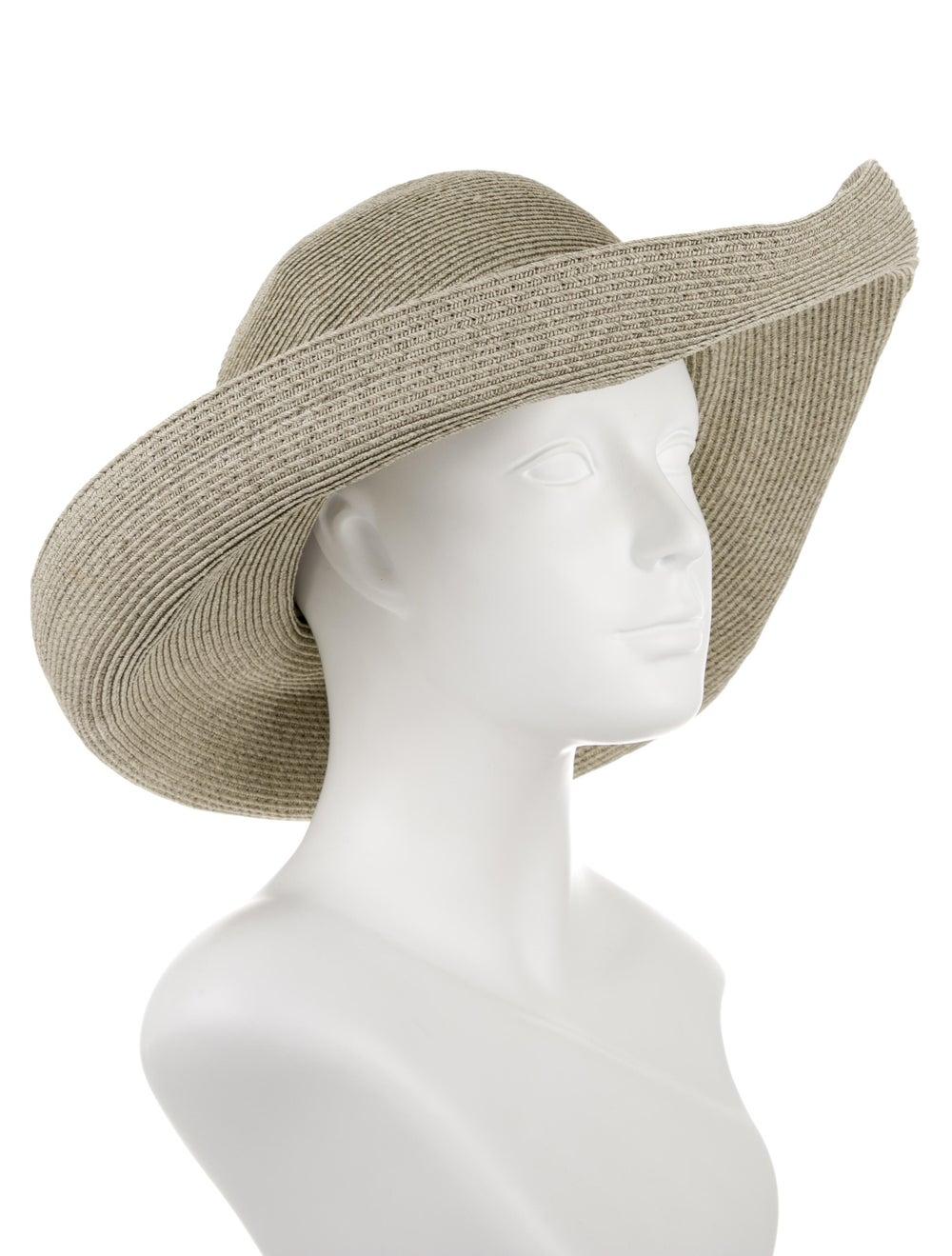 Eric Javits Wide-Brim Straw Hat green - image 3