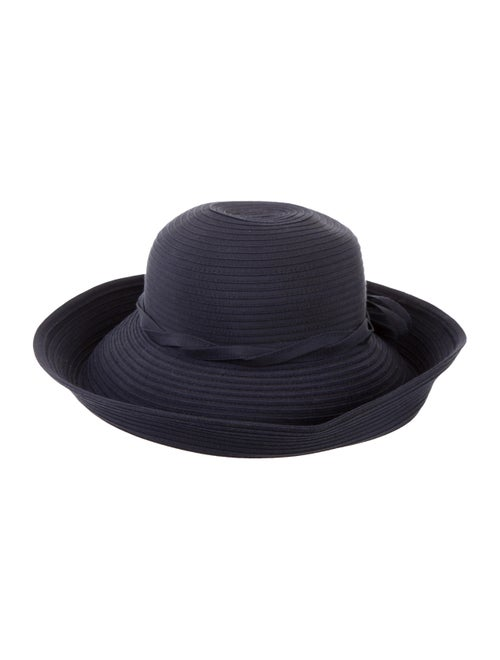 Eric Javits Wide-Brimmed Woven Hat Navy - image 1