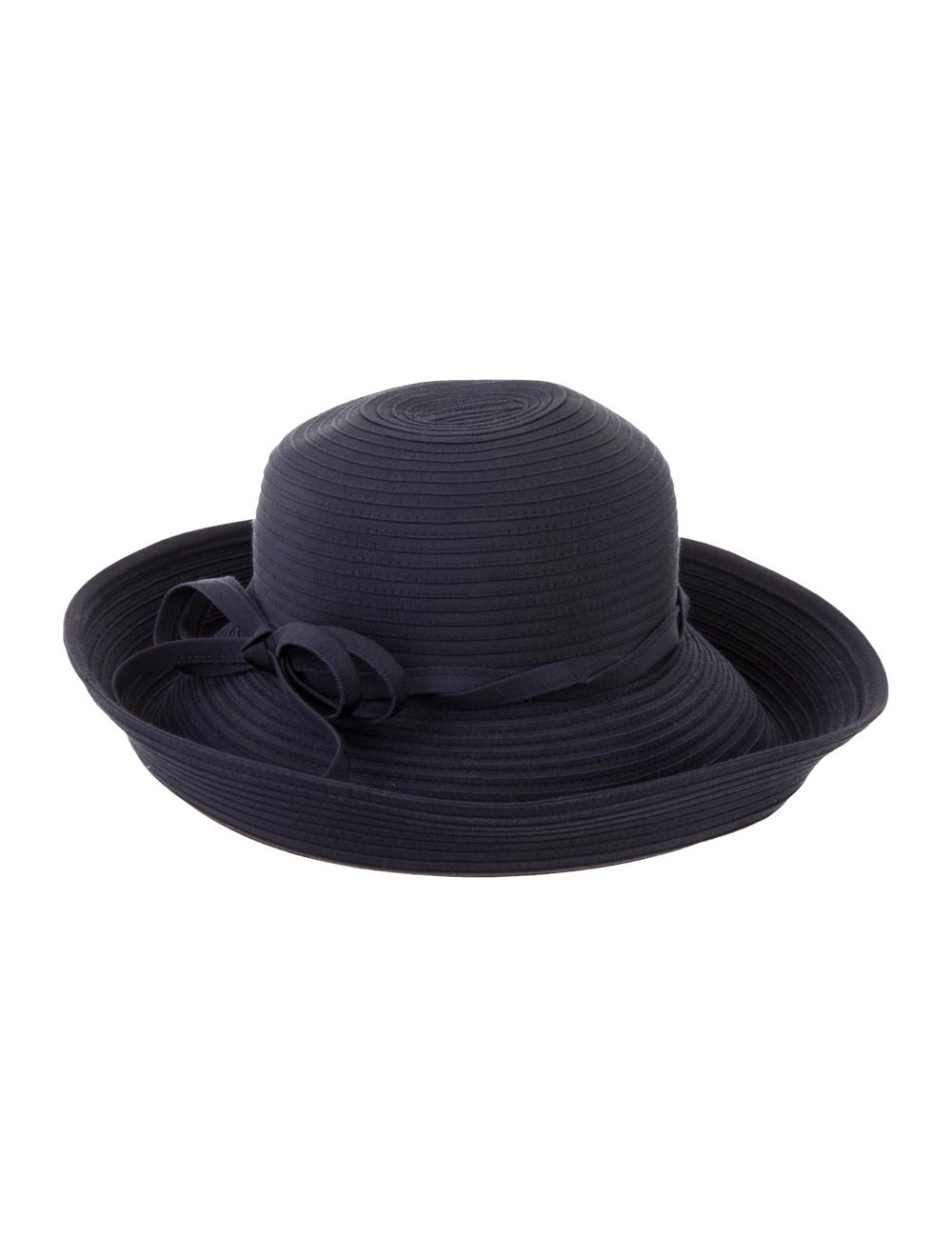 Eric Javits Wide-Brimmed Woven Hat Navy - image 2
