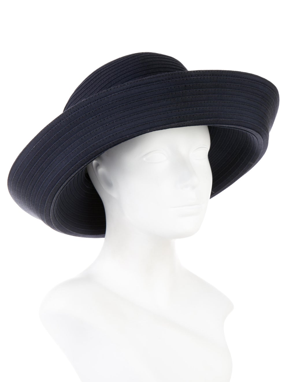 Eric Javits Wide-Brimmed Woven Hat Navy - image 3