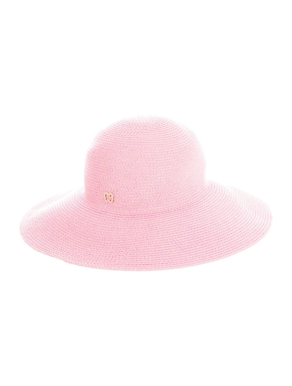 Eric Javits Straw Wide-Brim Hat Pink - image 2