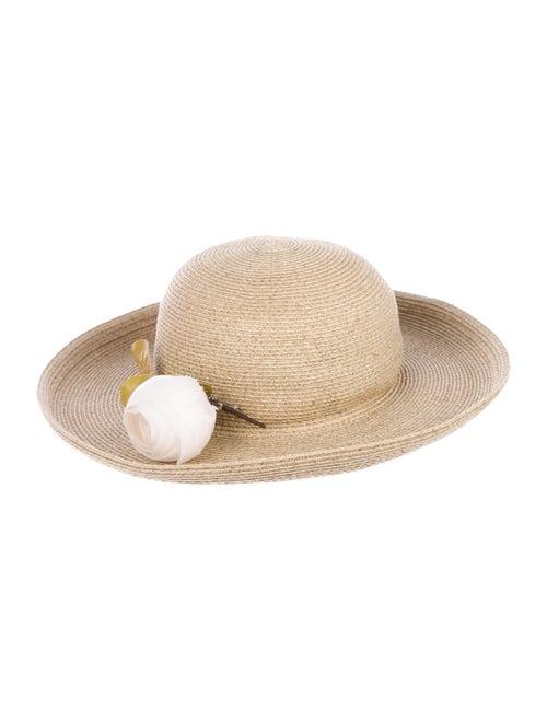 Eric Javits Straw Wide Brim Hat Tan