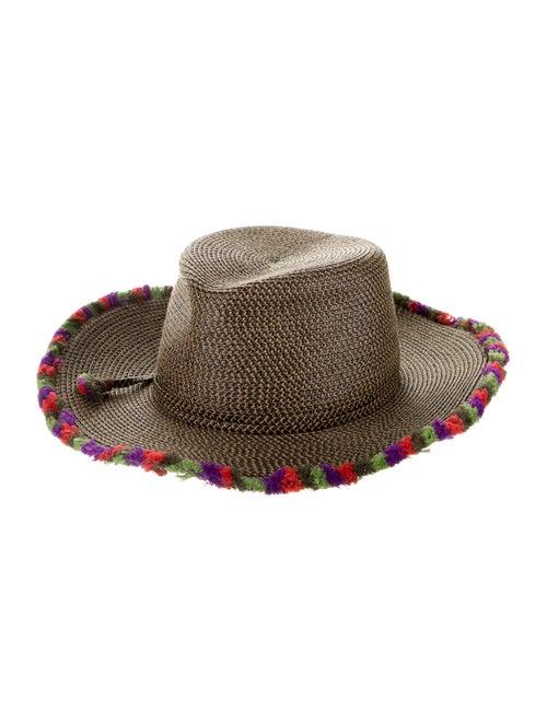 Eric Javits Straw Wide Brim Hat Black
