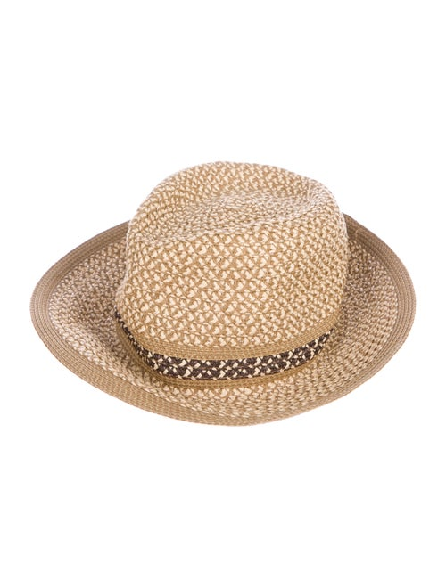Eric Javits Woven Straw Hat Tan - image 1