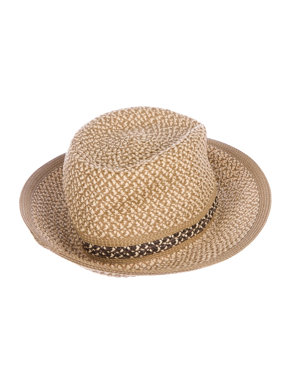 Eric Javits Woven Straw Hat Tan - image 2