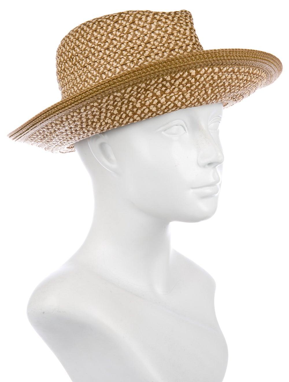 Eric Javits Woven Straw Hat Tan - image 3