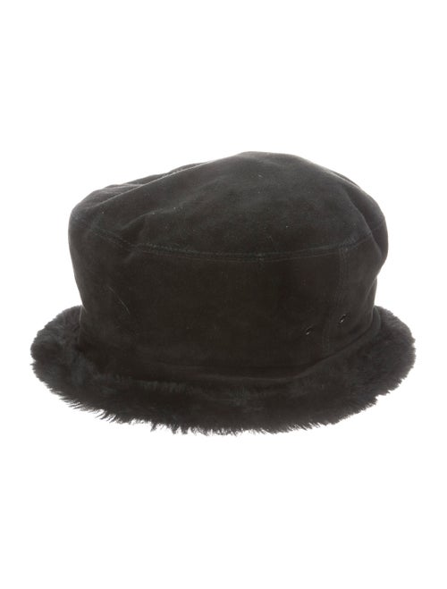 Eric Javits Suede Bucket Hat Black