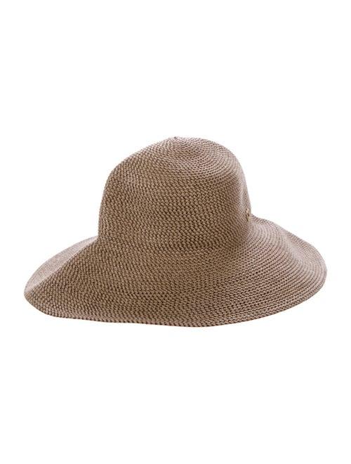 Eric Javits Wide-Brim Straw Hat Tan