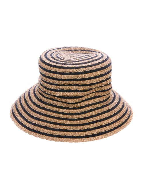 Eric Javits Straw Wide Brim Hat w/ Tags Tan