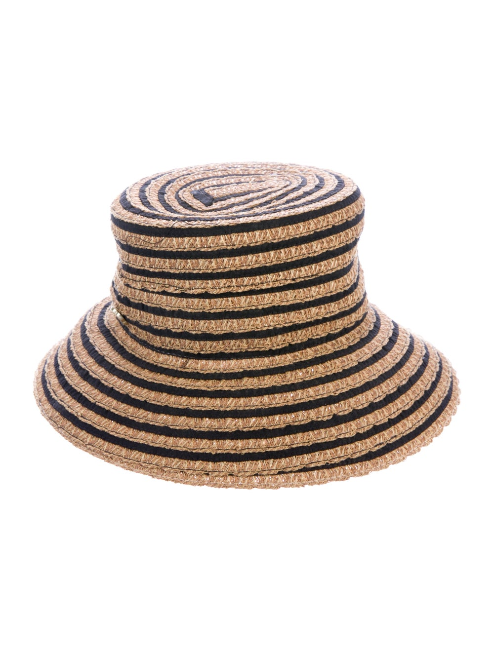 Eric Javits Straw Wide Brim Hat w/ Tags Tan - image 2