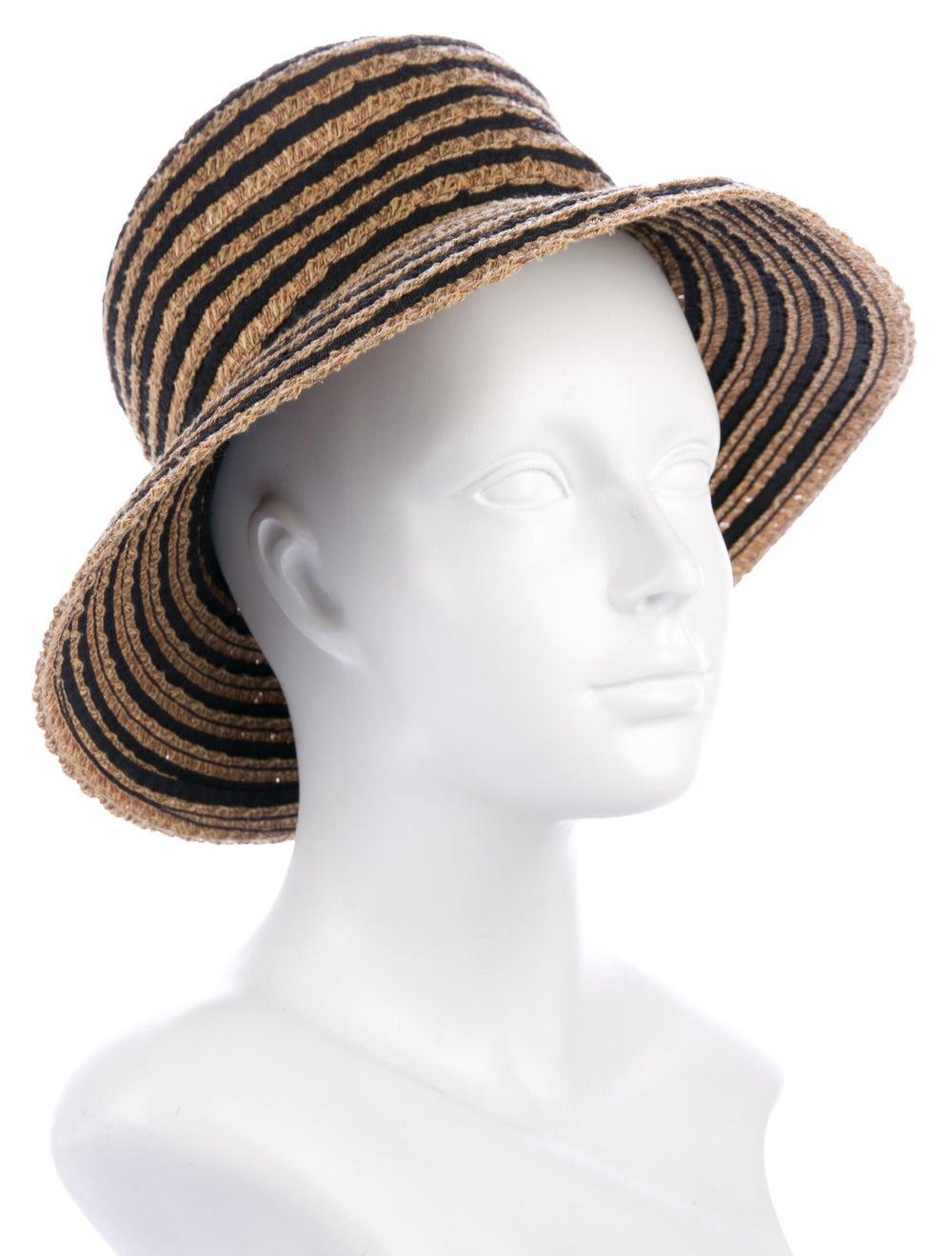 Eric Javits Straw Wide Brim Hat w/ Tags Tan - image 3