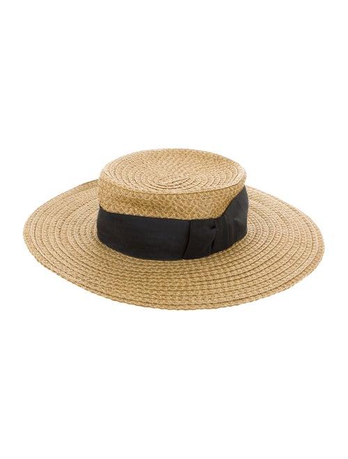 Eric Javits Straw Wide-Brim Hat Tan - image 1