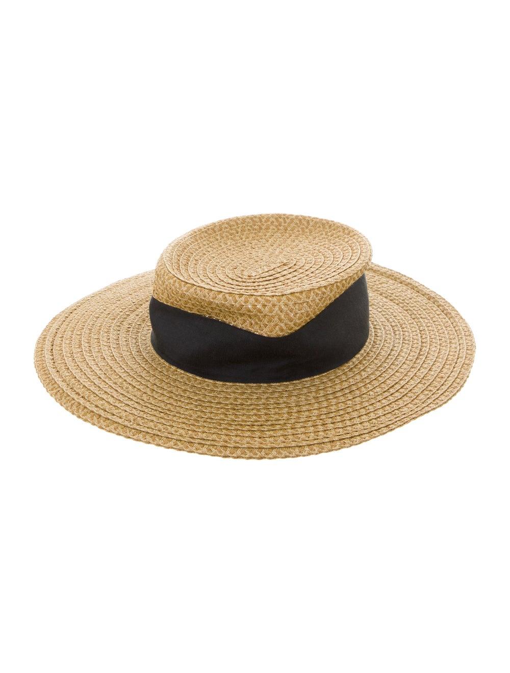Eric Javits Straw Wide-Brim Hat Tan - image 2