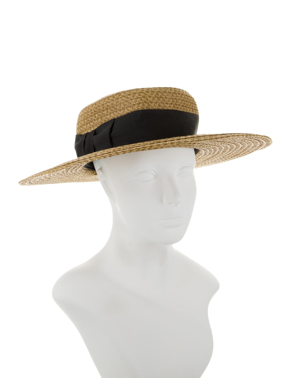 Eric Javits Straw Wide-Brim Hat Tan - image 3