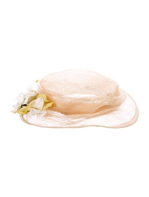 Eric Javits Straw Embellished Hat Tan