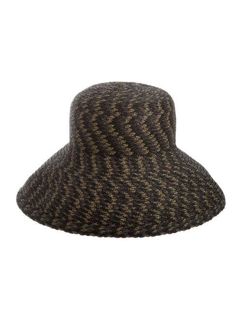 Eric Javits Straw Woven Hat Black