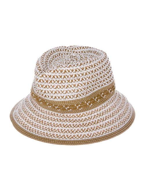 Eric Javits Woven Raffia Hat Tan