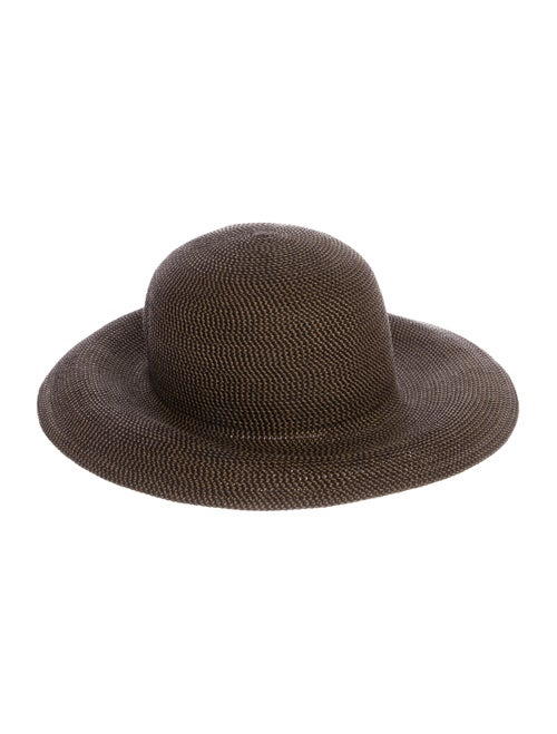 Eric Javits Straw Wide Brim Hat Brown