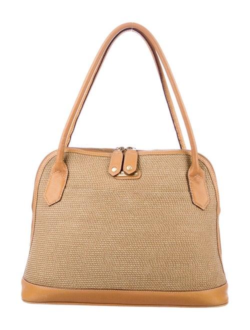 Eric Javits Straw Woven Shoulder Bag Gold