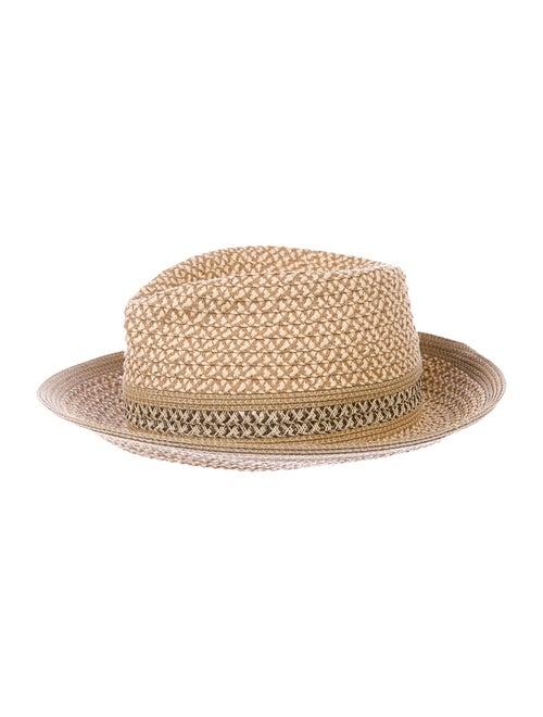 Eric Javits Woven Straw Hat Tan