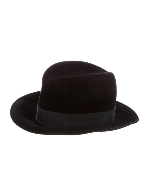 Eric Javits Felt Fedora Hat Black