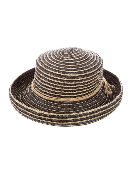 Eric Javits Raffia Bucket Hat Black