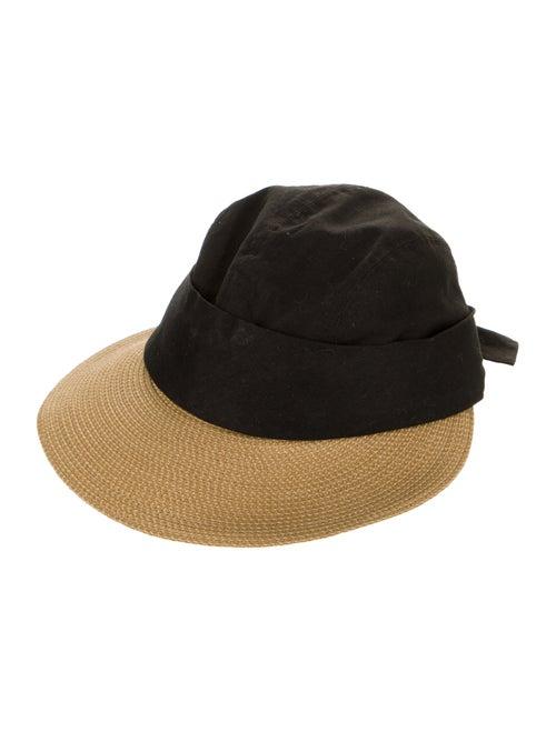 Eric Javits Linen Wide-Brim Hat Black