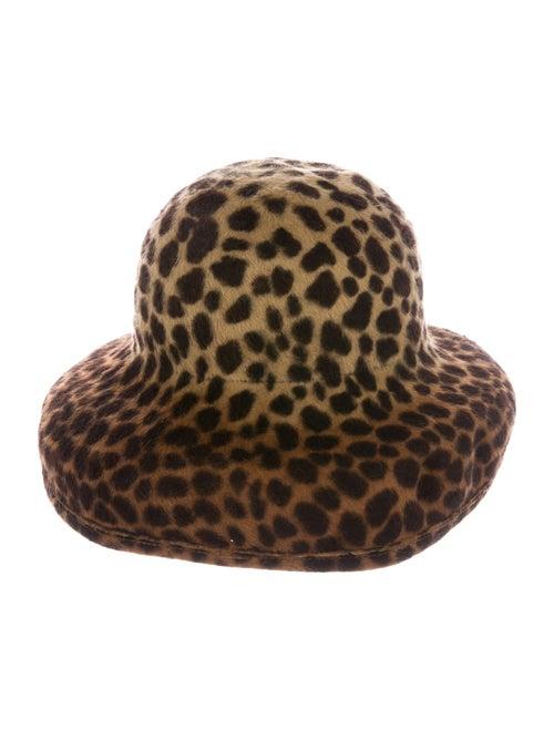 Eric Javits Suede Bucket Hat leopard
